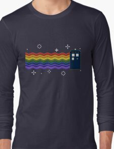 Rainbow TARDIS Long Sleeve T-Shirt