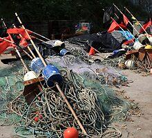 Colourful Fishing Markers by aidan  moran