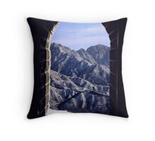 Great Wall of China in the winter Throw Pillow