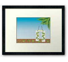 Mojito cocktail on the table Framed Print