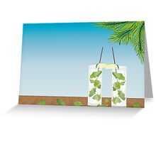Mojito cocktail on the table Greeting Card
