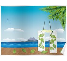 Mojito cocktail on the table 2 Poster