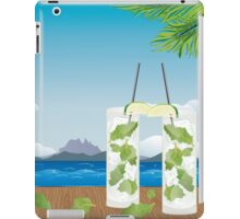 Mojito cocktail on the table 2 iPad Case/Skin