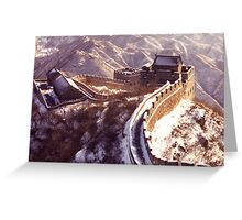 Winter at the Great Wall of China Greeting Card