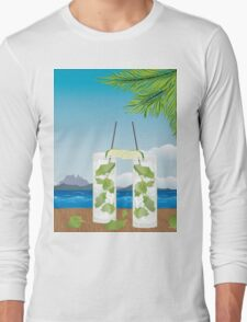 Mojito cocktail on the table 2 Long Sleeve T-Shirt