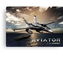 F-18 Hornet Jet Fighter Canvas Print
