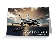 F-18 Hornet Jet Fighter Greeting Card