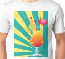 Orange cocktail with decorations Unisex T-Shirt