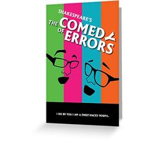 The Comedy of Errors Greeting Card