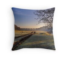 Icy Tracks Throw Pillow