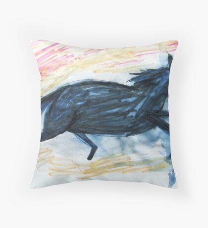 Horsey 7 Throw Pillow