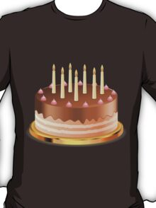 Chocolate cake with candles T-Shirt