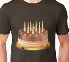 Chocolate cake with candles Unisex T-Shirt