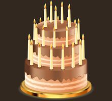 Chocolate cake with candles 2 Unisex T-Shirt