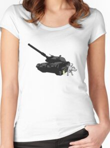 No Tanks! Women's Fitted Scoop T-Shirt