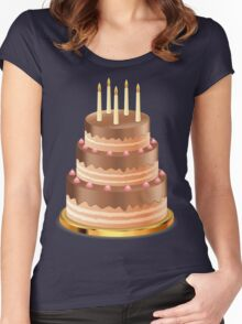 Chocolate cake with candles 3 Women's Fitted Scoop T-Shirt
