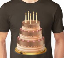 Chocolate cake with candles 3 Unisex T-Shirt