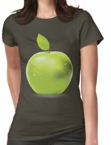 Fresh green apple Womens Fitted T-Shirt
