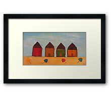 Rustic Beach Shacks Framed Print