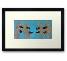 Emu Gathering 11 Framed Print