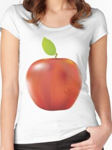 Fresh red apple 2 Women's Fitted Scoop T-Shirt