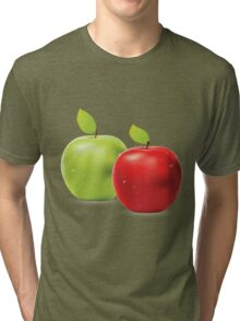 Green apple and red apple Tri-blend T-Shirt