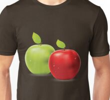 Green apple and red apple Unisex T-Shirt