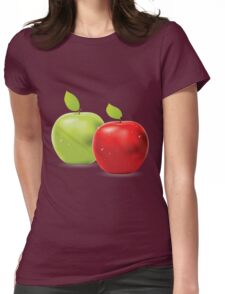 Green apple and red apple Womens Fitted T-Shirt