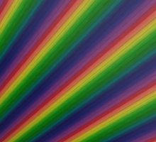 Perspective rainbow planks Sticker