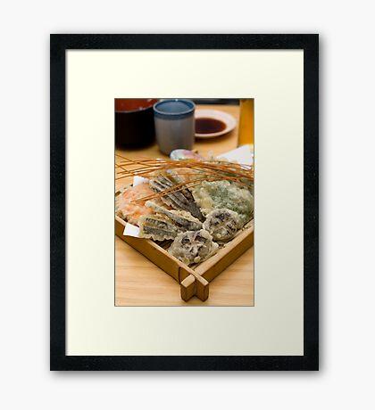 Vegetable tempura Framed Print