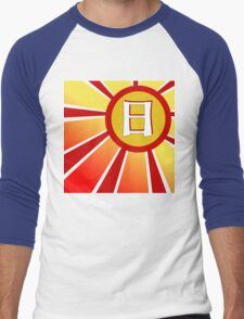Sun Japanese Kanji Men's Baseball ¾ T-Shirt