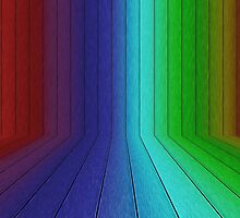 Perspective rainbow planks 2 by AnnArtshock