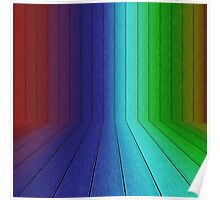 Perspective rainbow planks 2 Poster