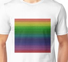 Perspective rainbow planks 3 Unisex T-Shirt