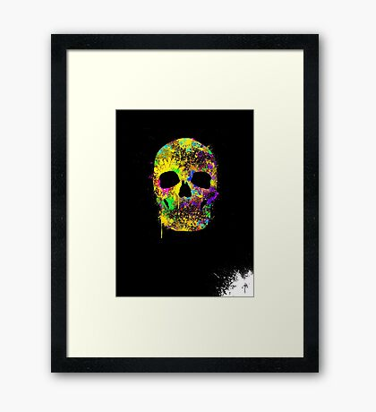 Death can be cool too ! Framed Print