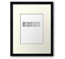 Gremlins - Bright Light Bright Light; Never Feed Him After Midnight Framed Print