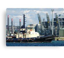 Newcastle Harbour - Wato Tug Boat Canvas Print