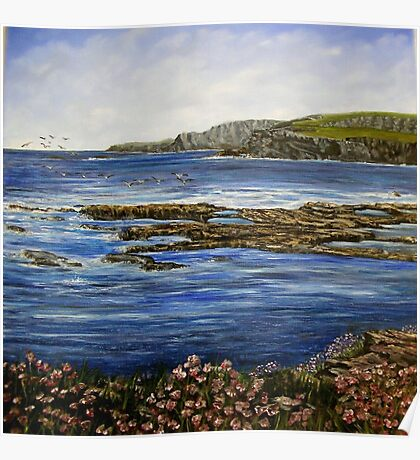"""""""Kilkee Cliffs - County Clare"""" Poster"""