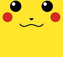 Pikachu Face by NoTeeAmy