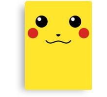 Pikachu Face Canvas Print