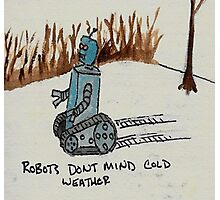 Robots don't mind cold weather Photographic Print