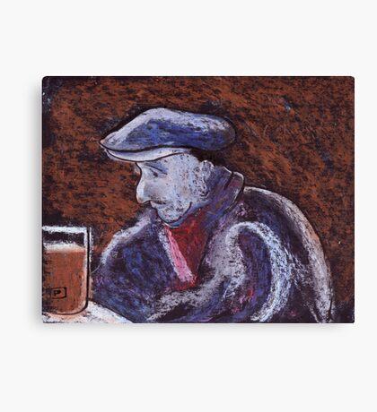 Man at the bar Canvas Print