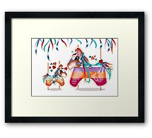 Magic Merry Go Round Ponies Framed Print