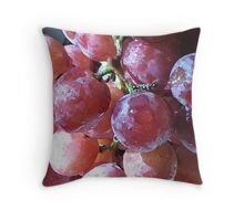 Grapes Throw Pillow