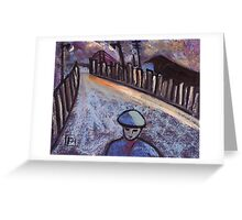 Road to the coal mine Greeting Card