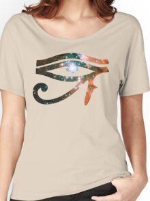 Kid Cudi Galaxy [Red] | Eye of Ra [Eye of Horus] Women's Relaxed Fit T-Shirt