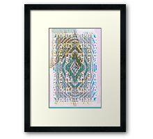 Poetic Measure Framed Print