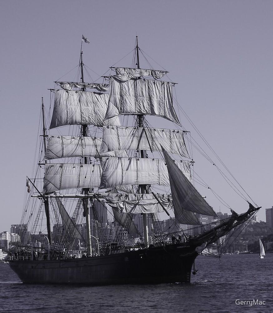 Barque James Craig - Sydney Harbour Australia by GerryMac