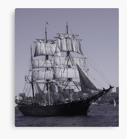 Barque James Craig - Sydney Harbour Australia Canvas Print
