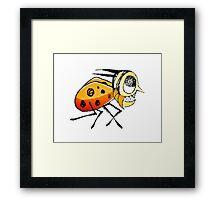Funny Bug Running Hand Drawn Illustration Framed Print
